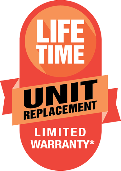 Lifetime Unit Replacement Limited Warranty banner